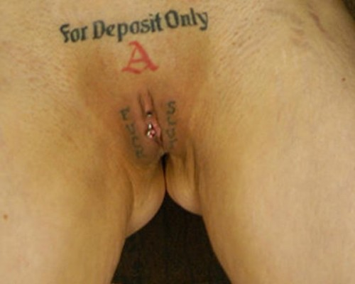 Customized Vaginas Funny Vagina Tattoo